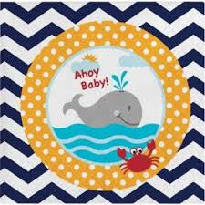 Ahoy Matey Baby Shower Beverage Napkins 18 Per Pack