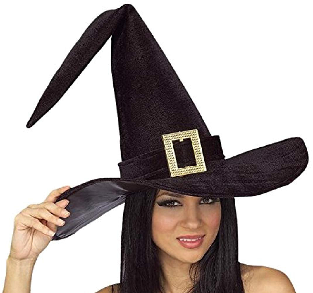 Witch Hat W/Buckle-Black [ 49429 ]