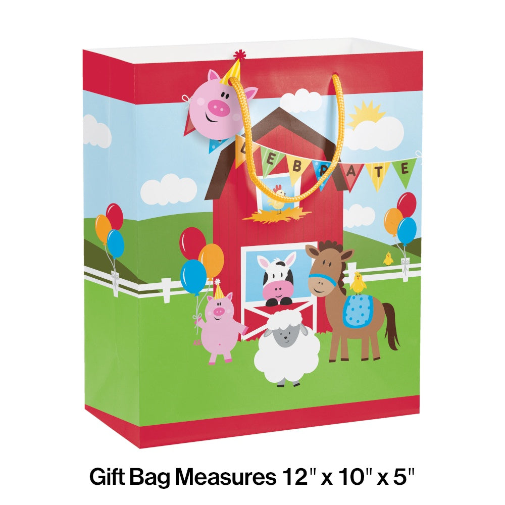 BAG GIFT 12/1CT FARMHOUSE FUN