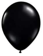 Balloons: Solid Colour Latex Balloons: Black