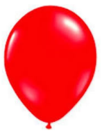Balloons: Solid Colour Latex Balloons: Red