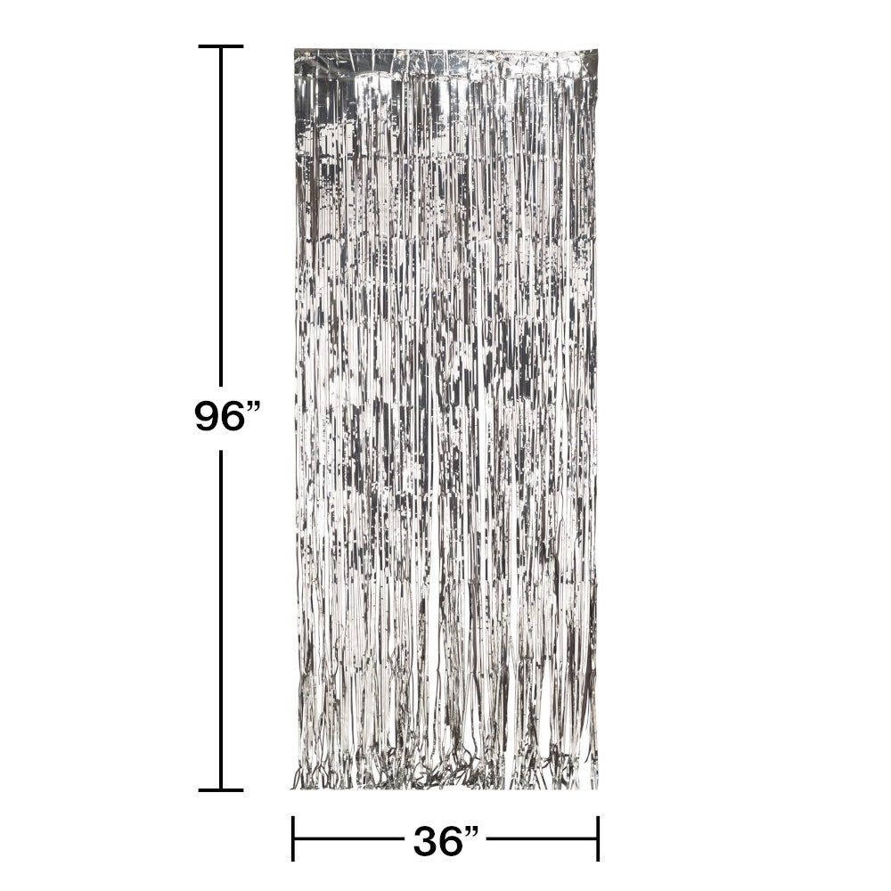 DOOR FRINGE 6/1CT SILVER FOIL [141009]