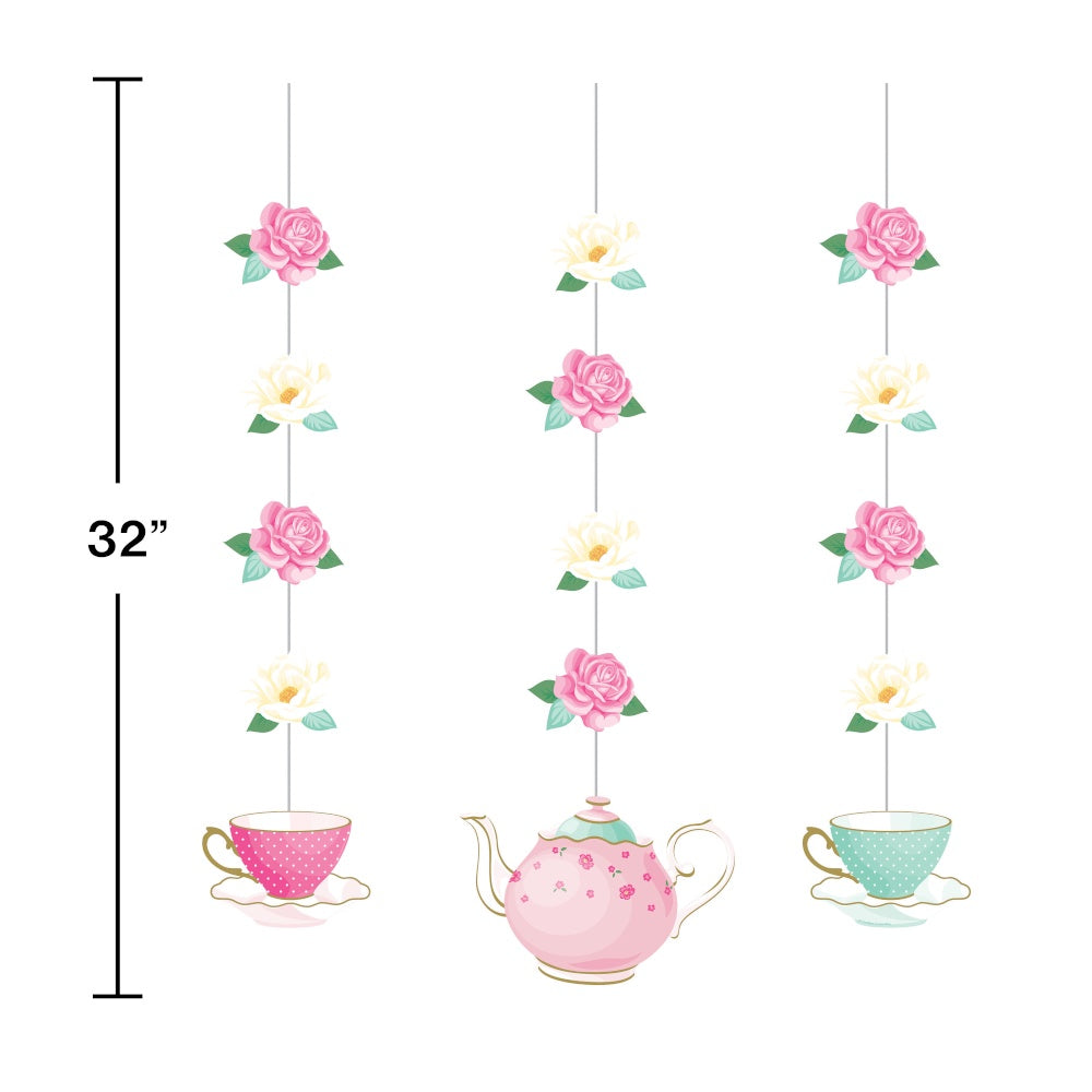 CO HNG 12/3CT FLORAL TEA PARTY