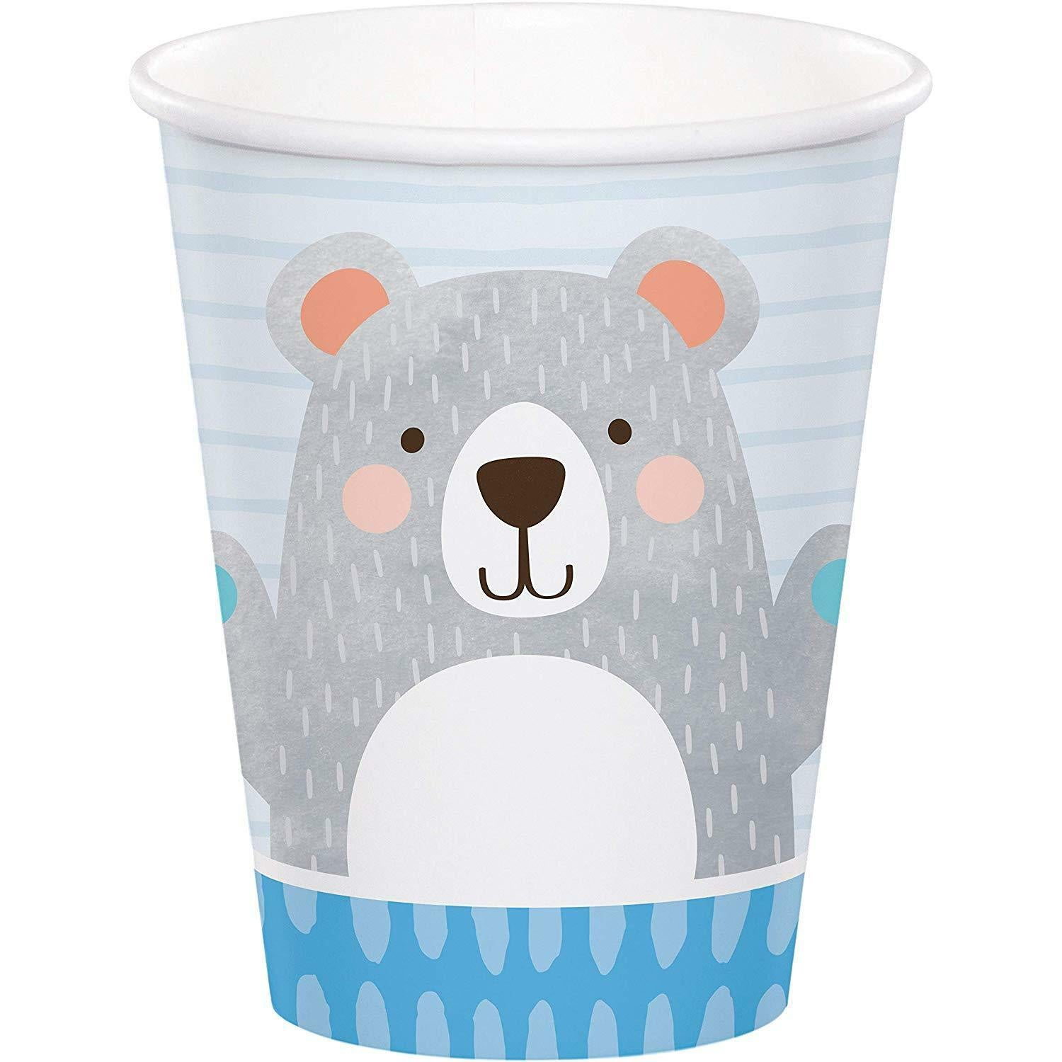 9CUP 12/8CT 1ST BIRTHDAY BEAR [336063]