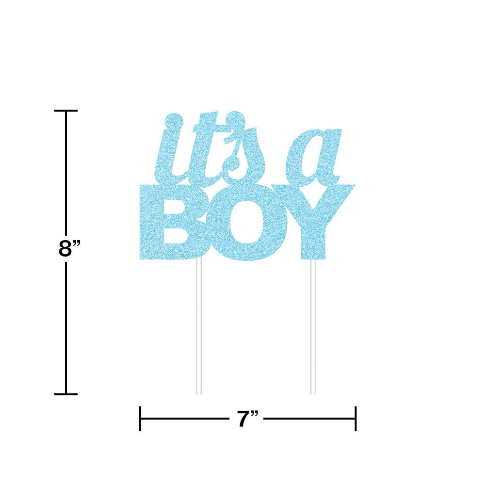 CAKE TOPPER 12/1 BLUE BOY GLITTER [335053]