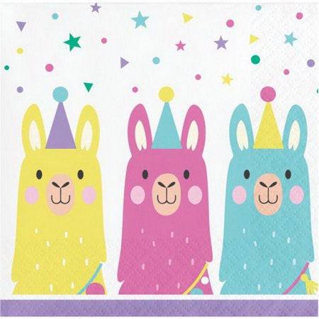 Beverage Napkin Bn 12/16Ct 2P Llama Party 339581 3