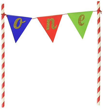 CAKE TOPPER 12/1 BANNER MULTI-COLOR ONE
