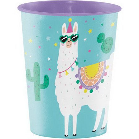 Plastic Keepsake Cup 16 Oz. 16Tmblr Iml Pl 12/1Ct Llama Party 339589 8