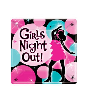 Bachelorette Girls Night Out Square Plates