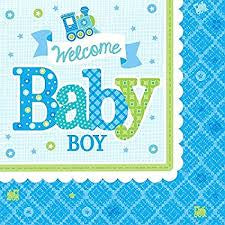 Welcome Little One Baby Boy Napkins