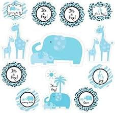 Sweet Safari Boy Baby Shower Cutouts 12