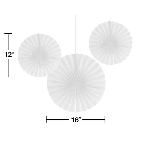 Sparkle And Shine Silver : White Solid Fans 3Ct