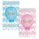 Paper Treat Bag Md Bag Tr Pr Md 12/10Ct Gender Reveal Blns