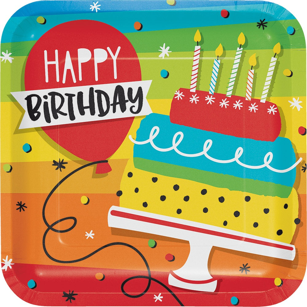 PLT9 DD SQ 12/8CT HOPPIN' BIRTHDAY CAKE