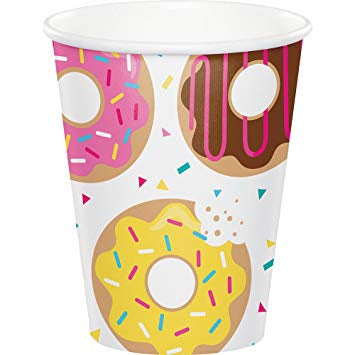Hot/Cold Cups 9Oz. 9Cup 12/8Ct Donut Time