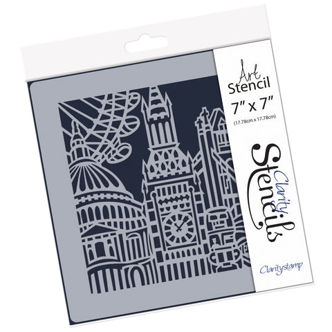 "City Skyline - London <br/> 7"" x 7"" Stencil"