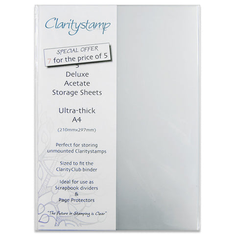 Claritystamp 5x Deluxe Acetate Sheets A4 + 2 FREE