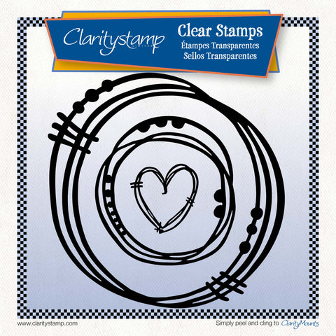 Leonie's Nested Heart Scribbles <br/> A4 Square Unmounted Stamp Set