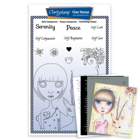 Dee's New Friends - Peace & Serenity <br/> A5 Unmounted Stamp Set <br/> (PRE-ORDER)