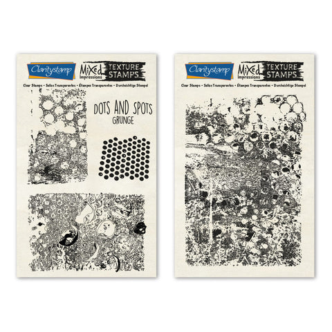 Dots & Spots - Grunge <br/> Mixed Impressions Unmounted Stamps
