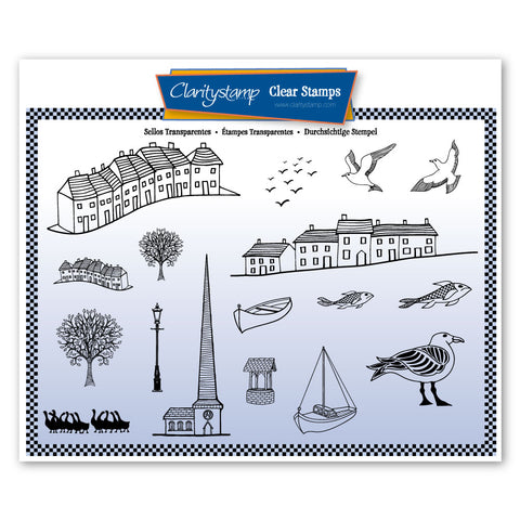 Village & Harbour <br/> A5 Unmounted Stamp Set