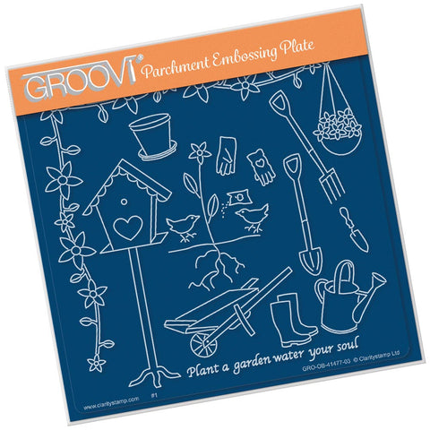 Hobbies - Gardening <br/> A5 Square Groovi Plate <br/> (PRE-ORDER)
