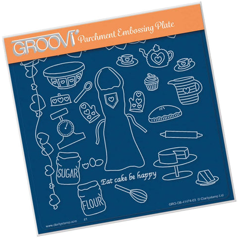 Hobbies - Baking <br/> A5 Square Groovi Plate <br/> (PRE-ORDER)