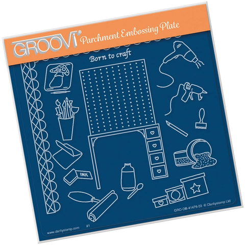 Hobbies - Crafting <br/> A5 Square Groovi Plate <br/> (PRE-ORDER)