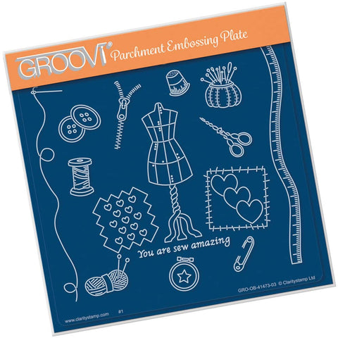 Hobbies - Haberdashery <br/> A5 Square Groovi Plate <br/> (PRE-ORDER)