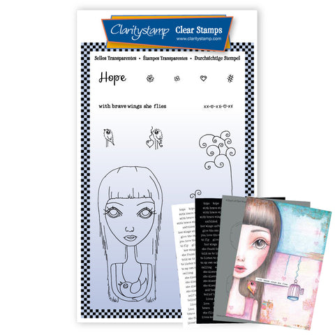 Dee's Friends - Hope <br/> A6 Unmounted Stamp Set <br/> (PRE-ORDER)