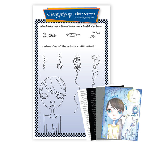 Dee's Friends - Brave <br/> A6 Unmounted Stamp Set <br/> (PRE-ORDER)