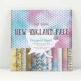 New England Fall - Four Seasons Collection - 8x8 Designer Paper Pad