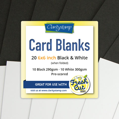"Card Blanks <br/> 6"" x 6"" Black & White (10 of Each)"