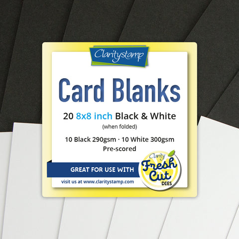 "Card Blanks <br/> 8"" x 8"" Black & White (10 of Each)"