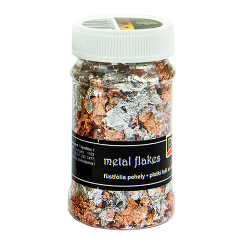 Metal Flakes - Variegated Silver & Copper (M1)
