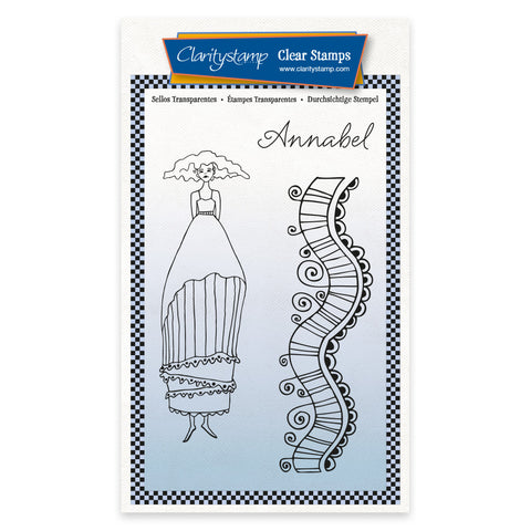 Barbara's Clarity Characters - Annabel A6 Unmounted Stamp & Mask Set