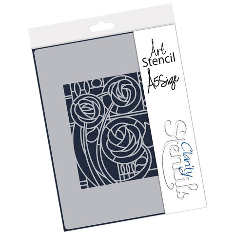Art Nouveau Three Roses <br/> A5 Stencil