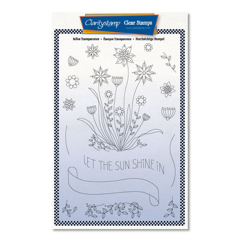 Barbara's SHAC Let the Sun Shine Doodle + Masks <br/> A5 Stamp Set