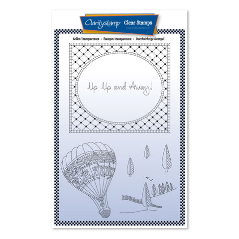Barbara's SHAC Hot Air Balloon Doodle <br/> A5 Unmounted Stamp Set