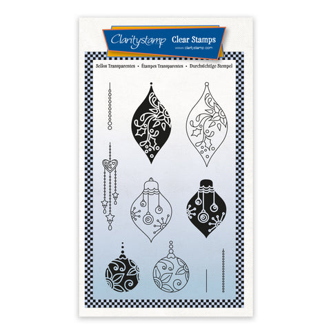 Baubles - Tina's 2 Way Christmas Ornaments A6 Stamp Set