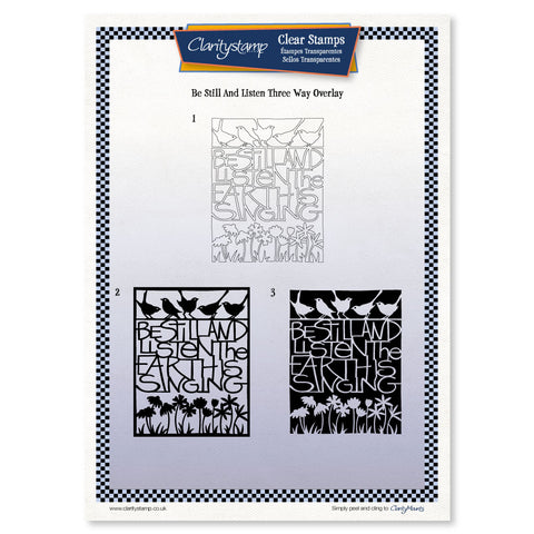 Be Still and Listen <br/> Three-way Overlay Unmounted Clear Stamp Set