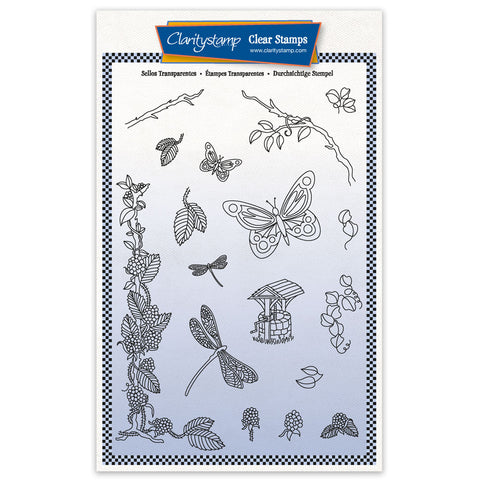 Barbara's SHAC Woodland Blackberry - A5 Stamp Set & Mask