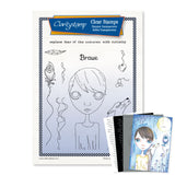 Dee's Friends - Brave + Mask <br/> A4 Unmounted Stamp Set <br/>