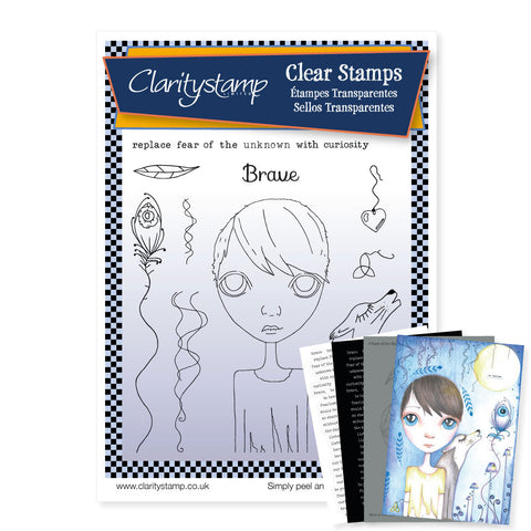 Dee's Friends + Mask - Brave <br/> A5 Unmounted Stamp Set <br/>
