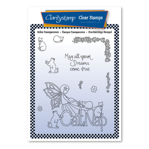 Mel's Cat Nap <br/> A6 Unmounted Stamp Set	 <br/> A6 Unmounted Stamp Set <br/> (PRE-ORDER)