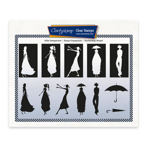 Barbara's Clarity Characters Silhouettes A5 Stamp Set