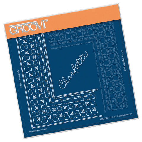 Princess Charlotte Grid Duet <br/> A5 Square Groovi Plate