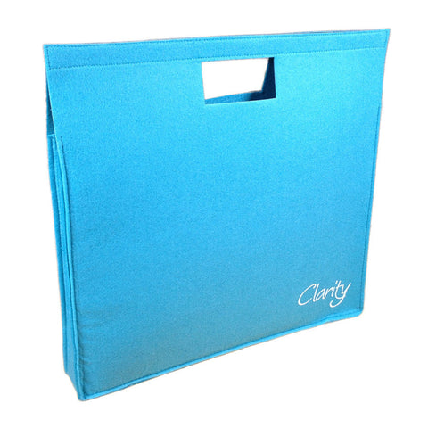 Clarity Felt Portfolio Bag - Light Blue