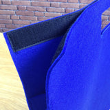 Clarity Felt Portfolio Bag - Dark Blue