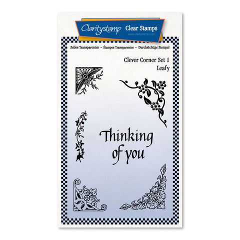 Clever Corners Set 1 - Leafy <br/> A6 Umounted Stamp Set